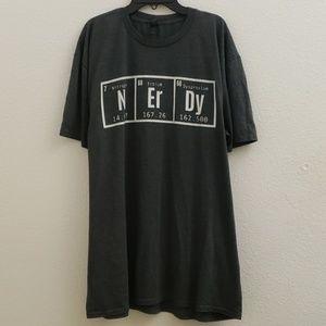 "Mens ""Nerdy"" Scientific Element Graphic Tee M17"